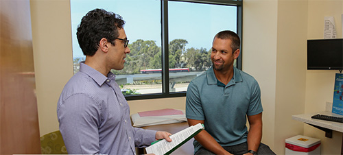 Dr. Erik Stark conducting a Patient Consultation in San Diego